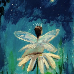 A legkisebb virágtündér , Otthon & lakás, Lakberendezés, Képzőművészet, Festmény, Festészet, Fotó, grafika, rajz, illusztráció, INGYENES POSTA !\n\nEredeti akrilik festmenyem, faroston.\n\nMeret : kb 36.5 x 26.5 cm.\n\nA szinek elterh..., Meska