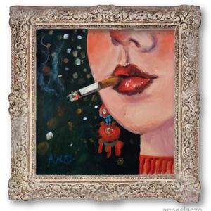Buli van!, Otthon & lakás, Lakberendezés, Képzőművészet, Falikép, Festmény, Akril, Festészet, Fotó, grafika, rajz, illusztráció, INGYENES POSTA!\n\nAkril festmenyem faroston.\nA keret csak illusztracio!\n\nkb. 27 x 28 cm. \nA szinek el..., Meska