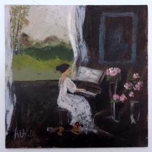 Zongora lecke, Művészet, Festmény, INGYENES POSTA! MOST AKCIOS  Eredeti akrilik festmenyem faroston.  Meret : kb 27  x 27  cm.  A szine..., Meska