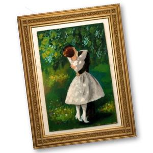Csók, Otthon & lakás, Lakberendezés, Képzőművészet, Festmény, Napi festmény, kép, Festészet, Fotó, grafika, rajz, illusztráció, INGYENES POSTA !\nMOST AKCIOS\n\nEredeti akrilik festmenyem, faroston.\n\nMeret : kb 20 x 29.5 cm.\nA kere..., Meska