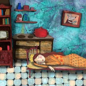 Cinderella , Otthon & lakás, Dekoráció, Képzőművészet, Napi festmény, kép, Fotó, grafika, rajz, illusztráció, Festészet, INGYENES POSTA !\n\nSajat grafikamrol keszult nyomat.\nMost ujra kaphato.\nMeret : A4.\nBarmilyen szabvan..., Meska