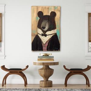 Mr. Brumm, Otthon & lakás, Képzőművészet, Gyerek & játék, Gyerekszoba, Festészet, Famegmunkálás, INGYENES POSTA\n\nRusztikus fara festett acrylic festmeny. \nfalra akaszthato.\n\nkb. 40.5 x 63.5 cm. \nA ..., Meska