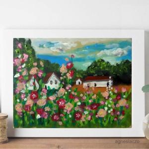 Kert, Művészet, Akril, Festmény, Festészet, Fotó, grafika, rajz, illusztráció, Meska