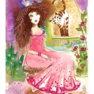 Szilvia , Akvarell, Festmény, Művészet, Festészet, Fotó, grafika, rajz, illusztráció, Eredeti akvarell festmenyem.\nMeret : A5 ( 21 x 14.8 cm)\nA szinek elterhetnek a monitor beallitasnak ..., Meska