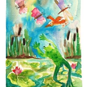 Lepketánc, Művészet, Akvarell, Festmény, Eredeti akvarell festmenyem. Meret : A5 ( 21 x 14.8 cm) A szinek elterhetnek a monitor beallitasnak ..., Meska