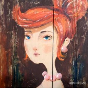 Vilma, Kép & Falikép, Dekoráció, Otthon & Lakás, Festészet, Famegmunkálás, \n\nRusztikus fara festett acrylic festmeny. \nfalra akaszthato.\n\nkb. 42.5 x 60 cm. \nA szinek elterhetn..., Meska