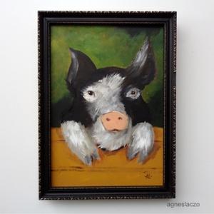 Malacka, Művészet, INGYENES POSTA !  Eredeti akrilik festmenyem keretben.  A szinek elterhetnek a monitor beallitasnak ..., Meska