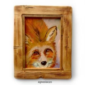 Bundás, Művészet, INGYENES POSTA !  Eredeti akrilik festmenyem rusztikus keretben.  A szinek elterhetnek a monitor bea..., Meska