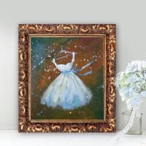 Báli ruha, Művészet, Festmény, Akril, Festészet, Fotó, grafika, rajz, illusztráció, INGYENES POSTA !\n\nEredeti akrilik festmenyem, faroston.\n\nMeret : kb 17.5 x 20 cm.\nA keret csak illus..., Meska