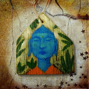 Buddha rusztikus fára festve, Otthon & Lakás, Dekoráció, Kép & Falikép, Famegmunkálás, Festett tárgyak, Ingyenes posta\n\nEgyedi, rusztikus fa dekoracio.\nkb. 15.5 x 16 cm. + akaszto.\nA szinek elterhetnek a ..., Meska