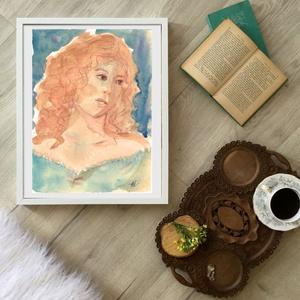 Claudia, Művészet, Festmény, Akvarell, Festészet, Fotó, grafika, rajz, illusztráció, Eredeti vizfestek festmenyem papiron.\nMeret :  24 x 18 cm\nA szinek elterhetnek a monitor beallitasna..., Meska