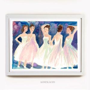 Táncosok, Művészet, Festmény, Akvarell, Festészet, Fotó, grafika, rajz, illusztráció, Eredeti vizfestek festmenyem papiron.\nMeret :  24 x 18 cm\nA szinek elterhetnek a monitor beallitasna..., Meska