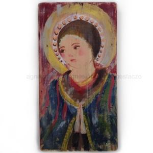 Madonna, Karácsony & Mikulás, Karácsonyi dekoráció, Ingyenes posta  Egyedi, rusztikus fa dekoracio. Falra akaszthato. kb. 26 x 49 cm.  A szinek elterhet..., Meska