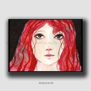 Jennifer, Művészet, Festmény, Festmény vegyes technika, Festészet, Fotó, grafika, rajz, illusztráció, Eredeti akvarell festmenyem. Mixed media.\nMeret : A4 ( 21 x 29.7 cm)\nA szinek elterhetnek a monitor ..., Meska