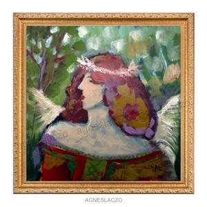 Erdők bölcs asszonya , Művészet, Festmény, Akril, Festészet, Fotó, grafika, rajz, illusztráció, INGYENES POSTA!\n\nAkril festmenyem faroston\nkb. 28 x 28 cm. \nA szinek elterhetnek a monitor beallitas..., Meska