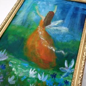 Kertben, Művészet, Festmény, Akril, Festészet, \nEredeti akrilik festmenyem keretben. \nA szinek elterhetnek a monitor beallitasnak megfeleloen!\nA ke..., Meska