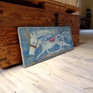 Fuss lovacska, fuss!, Művészet, Festmény, Napi festmény, Festészet, Famegmunkálás, Egyedi, rusztikus fara festett acrylic festmeny. \nfalra akaszthato.\n\nkb. 30 x 75 cm. \nA szinek elter..., Meska