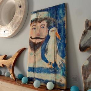 Útra fel!, Művészet, Festmény, Festmény vegyes technika, Festett tárgyak, Újrahasznosított alapanyagból készült termékek, Meska