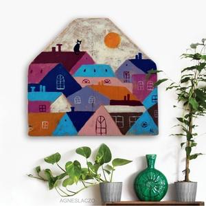 Tetők felett - otthon & lakás - dekoráció - falra akasztható dekor - Meska.hu