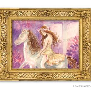 """Balance, Művészet, Festmény, Akvarell, Festészet, Fotó, grafika, rajz, illusztráció, \"""" Life is a balance of holding on and letting go…\""""\n\nEredeti akvarell festmenyem papiron.\nMeret : A4\n..., Meska"""