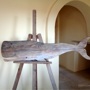 Óriás cet, Otthon & Lakás, Dekoráció, Dísztárgy, Famegmunkálás, Falra akaszthato rusztikus fa dekoracio.\nkb. 120 x 30 cm.\n\nIngyenes hazhozszallitas.\n\n, Meska