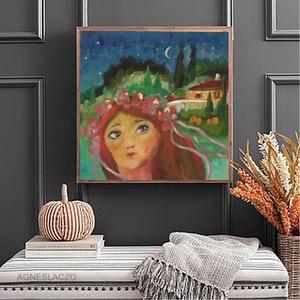 Az éj leple alatt, Művészet, Festmény, Akril, Fotó, grafika, rajz, illusztráció, Festészet, Meska