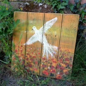 Virágos rét felett  - művészet - festmény - festmény vegyes technika - Meska.hu