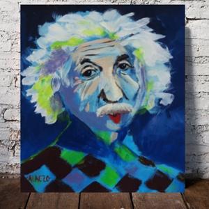 Einstein, Művészet, Festmény, Akril, Festészet, Fotó, grafika, rajz, illusztráció, Meska