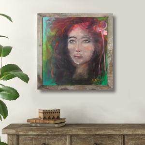 Kármen, Művészet, Akril, Festmény, INGYENES POSTA  Eredeti akrilik festmenyem, vasznon. A keret csak illusztracio! Meret : 40 x 40 cm. ..., Meska