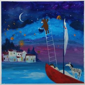 Csillagszóró, Művészet, Festmény, Akril,  Eredeti akrilik festmenyem, vasznon. A keret csak illusztracio! Meret : 40 x 40 cm. A szinek elterh..., Meska