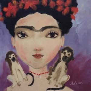 Frida, Művészet, Festmény, Akril, Fotó, grafika, rajz, illusztráció, Festészet, Meska