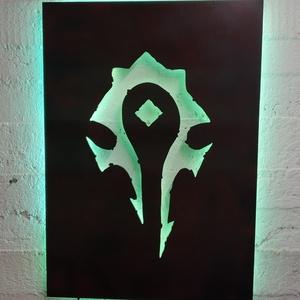 World of Warcraft - fali dekoráció világítással (faragda) - Meska.hu