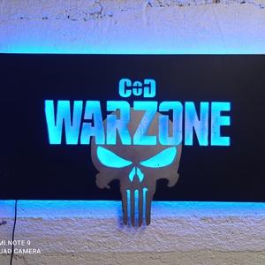 Call of Duty:  Warzone - falikép ledes világítással, Otthon & Lakás, Lámpa, Hangulatlámpa, Famegmunkálás, Festészet, Call of Duty:  Warzone játékosoknak falikép ledes világítással.  A mellékelt távirányítóval állíthat..., Meska