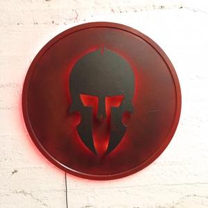 Spartan - spártai harcos,  ledes fali dekor - otthon & lakás - lámpa - hangulatlámpa - Meska.hu