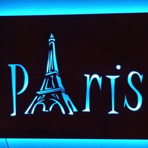 Párizs -  világító fali dekor, hangulatvilágítás - Meska.hu