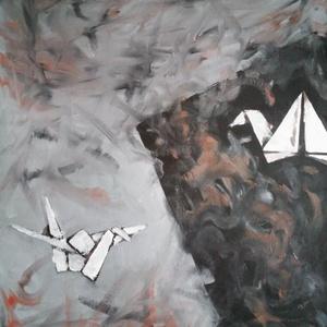 Darvakok - , Otthon & lakás, Képzőművészet, Festmény, Olajfestmény, Festészet, Neked mennyi ideig tart egy origami darut hajtogatni? Az én első papírdarum négy órán keresztül kész..., Meska