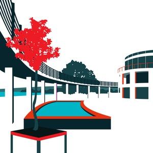 HEYMINIMÁL Velence korzó, Otthon & lakás, Képzőművészet, Illusztráció, Lakberendezés, Falikép, Fotó, grafika, rajz, illusztráció, A HEYMINIMÁL sorozat első darabját tartod most virtuálisan a kezedben, amely a velencei korzót ábráz..., Meska