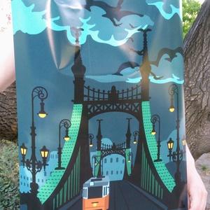 Budapest Szabadság híd poszter, Művészet, Grafika & Illusztráció, Imádod a Szabadság híd varázslatosságát, és a budapesti utcaképek látványa is feltüzel? Akkor ez a p..., Meska
