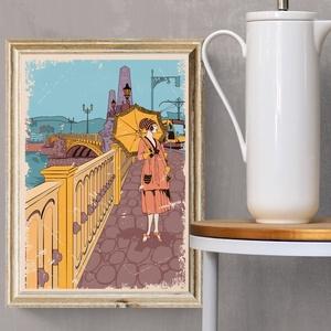 Margit híd  - Budapest utazó poszter, Művészet, Művészi nyomat, Fotó, grafika, rajz, illusztráció, Elkészült a hazai kultikus helyeket bemutató utazó poszter legújabb gyöngyszeme: Budapest \nMargit hí..., Meska