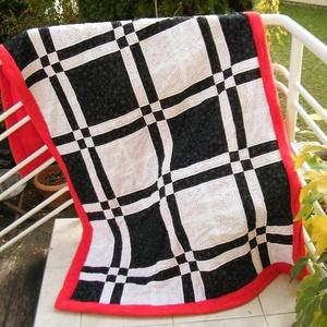 Foltmintás takaró, Otthon, lakberendezés, Lakástextil, Takaró, ágytakaró, Patchwork, foltvarrás, Varrás, Merész szinösszeállítású, patchwork mintás takaró, mely akár ágytakaróként is használható. Mérete 1..., Meska
