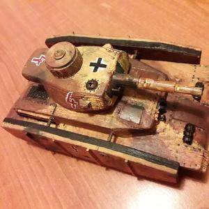 Fatank - Panzer IV. 1/30 Sivatagi festés, Játék, Gyerek & játék, Fajáték, Famegmunkálás,  A vállalkozásom szüneteltetése miatt jelenleg NEM TUDOK RENDELÉST FOGADNI!\n\nEgyedi készítésű, méret..., Meska