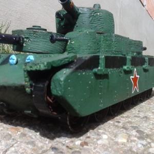 Fatank - T-35 Öt tornyú szovjet nehézharckocsi 1/30, Játék, Gyerek & játék, Fajáték, Famegmunkálás, Egyedi készítésű, méretarányos, valósághű, strapabíró fatank.\n\nA T-35 a történelem egyetlen sorozatb..., Meska