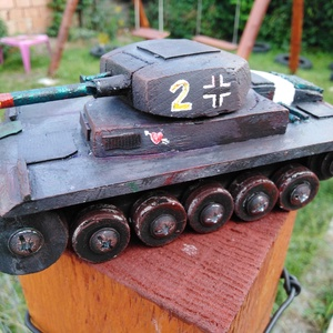 Fatank - Panzer II Könnyű tank 1/30, Húzó & Tolójátékok, Játék & Gyerek, Famegmunkálás, MÁR CSAK 2021-ES SZÁLLÍTÁSRA TUDOK KÉSZÍTÉST VÁLLALNI!\n\nEgyedi készítésű, méretarányos, valósághű, s..., Meska
