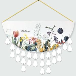Virágos családi eseménynaptár, Falinaptár & Öröknaptár, Dekoráció, Otthon & Lakás, Fotó, grafika, rajz, illusztráció, Festett tárgyak, Ünnepi naptáraim nem csak kellemes dekorációs elemei lehetnek a lakásnak, hanem segít abban, hogy kö..., Meska