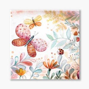 Pillangó tánc vászonkép, Gyerek & játék, Gyerekszoba, Baba falikép, Otthon & lakás, Dekoráció, Kép, Festészet, Fotó, grafika, rajz, illusztráció, Pillangó tánc nyomtatott vászonkép\n\nA Pillangó tánc festményem a kislányok szobájában vidám, könnyed..., Meska