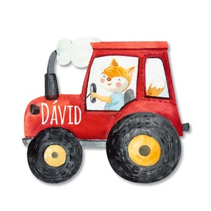 Traktoros névtábla, Otthon & Lakás, Dekoráció, Festészet, Famegmunkálás, Babalátogatóba, születésnapra, karácsonyra kedves és különleges ajándék lehet egy Favolartos névtábl..., Meska