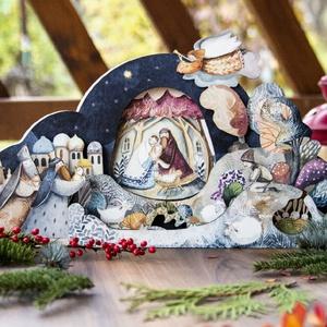 Betlehemes dekoráció, Karácsony & Mikulás, Karácsonyi dekoráció, Festészet, Festett tárgyak, A Karácsony az egyik legfontosabb ünnep az évben. Legfőképp a gyerekek számára mivel az ajándékok íg..., Meska