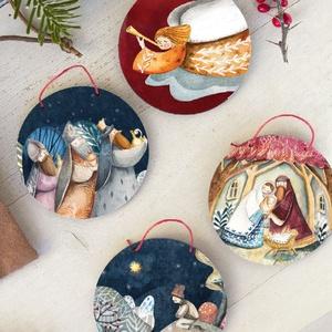 Karácsonyi díszek, Karácsony, Adventi díszek, Adventi ablakdekoráció, Famegmunkálás, Meska