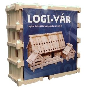 1 cs. LOGI-VÁR fajáték (86 elem), Gyerek & játék, Játék, Fajáték, Társasjáték, Famegmunkálás, Mindenmás, LOGI-VÁR Logikai Várépítő Játék termékismertető.\n\nA fa építőjáték egyedi tulajdonsága hogy mindössze..., Meska