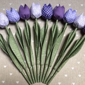 Textil tulipán /szett: 10 db/ ingyen ajándékkísérővel, Otthon & lakás, Dekoráció, Csokor, Varrás, Egyedi textil TULIPÁNOK eladók. \n\nA csokor 10 szál tulipánt tartalmaz lila árnyalatban.\n\nGyönyörű dí..., Meska